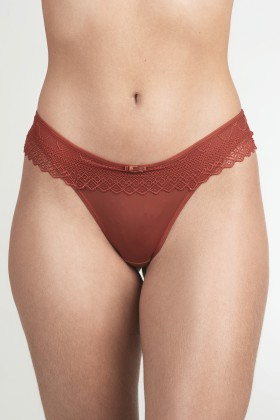 Tanga Miss Day Com Renda Terra